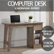 SO Cevo 1.1m Computer Table/Study Desk / Writing Table (White Ash)