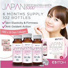 #1 Made in Japan★ITOH Japan CrystalCollagen 5300 3s★6 Months Supply★FREE 100% Pure Collagen 6000mg