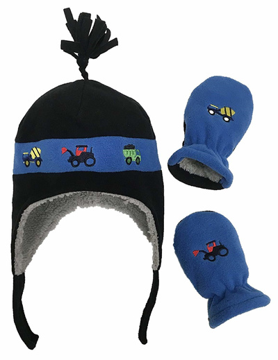 N%27Ice+Caps NIce Caps Little Boys and Baby Sherpa Lined Fleece Hat Mitten 358da01767e3