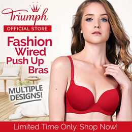 Triumph Fashion Wired / V Wired / Push Up / Non Push Up Bra