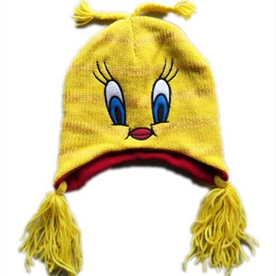b586ac485b9 Cartoon Anime Yellow Bird Plush Hats Cosplay Yellow Duck Hat Hero Mario  Hats Warm and Cute