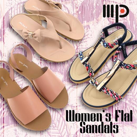 Qoo10 - ☆Women Flat Sandals☆Women