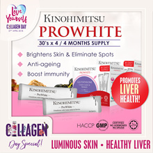 Kinohimitsu PROWHITE 4 x 30s (4MTHS SUPPLY) with 100% NATURAL MACQUI Berry extracts [Beautiful]