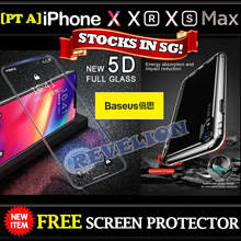 ★BASEUS★[PT-A] Stocks in SG! ★FREE Screen Protector★Apple iPhone X XR XS XS MAX Case Tempered Glass