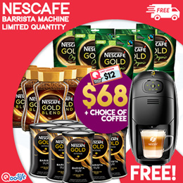 [NESTLE]FREE $79.9 BARISTA MACHINE w NESCAFE Gold Blend/Intense(Not in line with airfryer/wok promo)