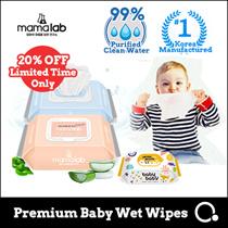[Moksan]  MAMALAB GENTLE BABY WIPES! For sensitive skin 99% purified water