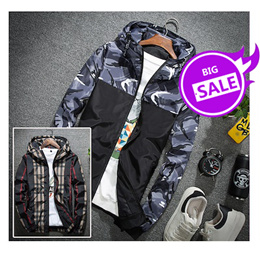 男士外套春秋季男装休闲薄款迷彩夹克韩版修身外衣