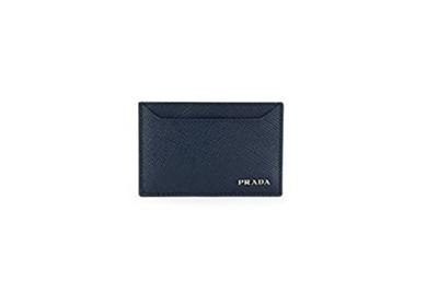 6644f604 [US$401.35](Prada) Prada Saffiano Cuir Logo Plaque Card Case, Navy  (Baltico) 2MC208-2MC208 2BB8 F0216