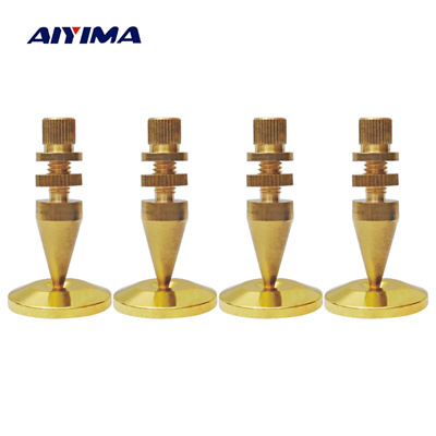 AIYIMA 4 Sets Audio Speaker Spikes Stand M6x36 Active Speakers Repair Parts  Pure Copper Foot Nails +