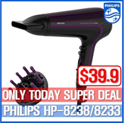 Philips ThermoProtect Ionic Hairdryer 2200W /turbo mode/hp8233/hp8244/hp8230