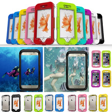 S7 Edge iPhone Swimming Waterproof Cases For iPhone SE iPhone 6 iPhone 6 Plus Samsung Galaxy S7 Note5 5.1inch Phone Screen Diving Underwater Protective Cover Capa Shell