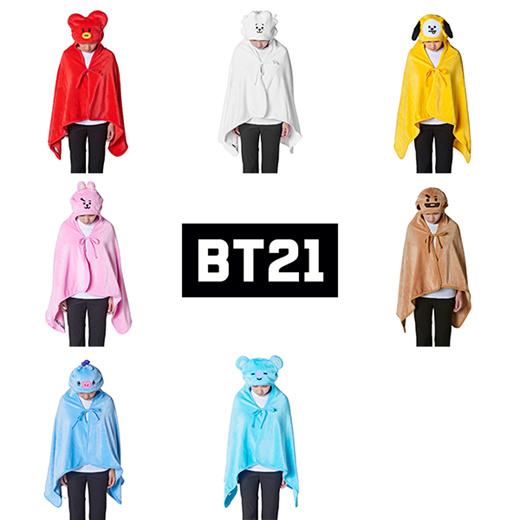 Qoo10 Bt21 Hoodie Knee Blanket Bts Bt21 Official Bt21