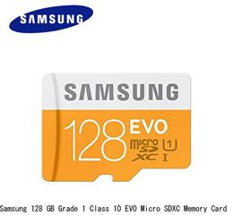 Samsung Memory 128GB Grade 1 Class 10 EVO MicroSDXC Memory Card or SD Adapter EVO U1 /  EVO U3 New