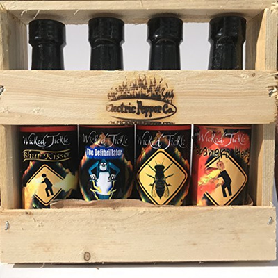[USA Shipping] Hot Sauce Gift Set Ghost Pepper Habanero Hot Sauce Gift Box  4 Pack +6 free Ghost Pepp