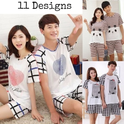 2018 Men and Women Korean Short Sleeved Pyjamas Deals for only RM0.23 instead of RM0