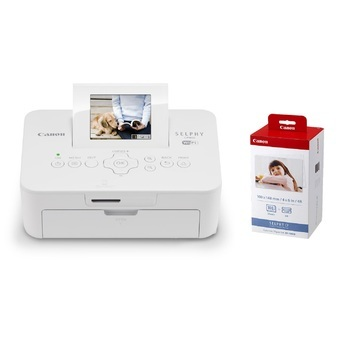 Canon Selphy CP910 printer White FREE ink cartridge and 108pcs paper