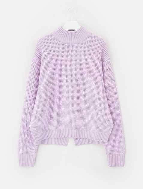 8SECONDS Waffle Turtle Neck Pullover - Lavender