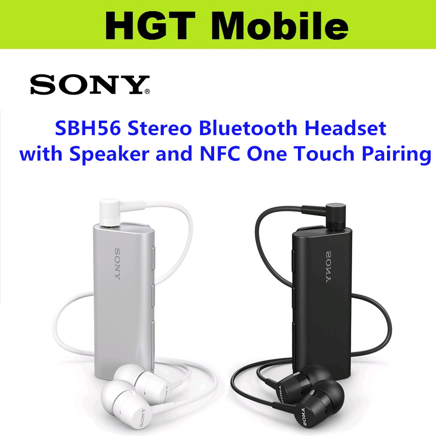 Hgt Mobile Sony Sbh56 Stereo Bluetooth Headset With Speaker Camera Remote Nfc One Touch Pairing