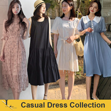 25th May Update / Korean Style / Linen / Casual / LOOSE Fit / Dress / Plus Size / Encounter Dress