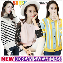 2017 New Korea sweater / Cardigan / Base shirt / Dress Coat Jacket / Vest Skirt / Bottoming Knitwear