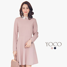 YOCO - Lacy Collared Dress-172653-Winter