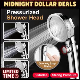 Pressurized Shower Head Save Water Pressure Handheld Spa Adjustable Bathroom SG SELLER