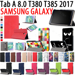 Smart Case for Samsung Galaxy Tab A 8.0 T380 T385 2017 8.0 inch stand Holder Cover Casing