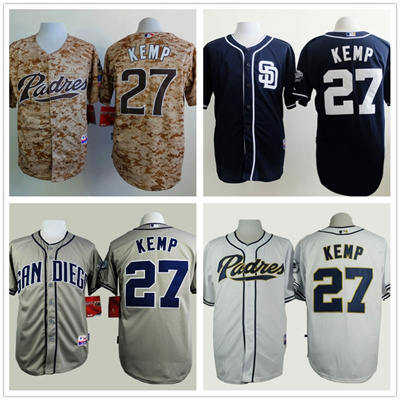110c1c043d9 Camisa 2015 San Diego Padres 27 Matt Kemp Men Baseball Jersey New Design  free Shipping Camo