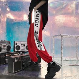 Summer korean style insharano wind pants women s street hip-hop spelling letter loose-fitting leggin