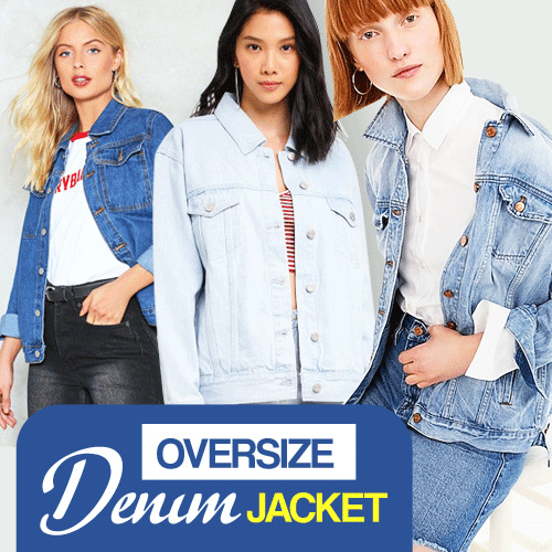 NEW ARRIVAL Over sized Denim Jacket for Women Deals for only Rp149.000 instead of Rp149.000