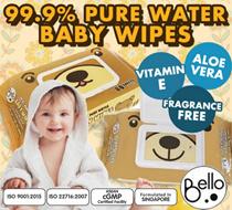 [BELLO] 2018 June RESTOCK * BABY wipes with CAP 10 Pks X 80s * Aloe Vera * Vitamin E* Fragrance Free