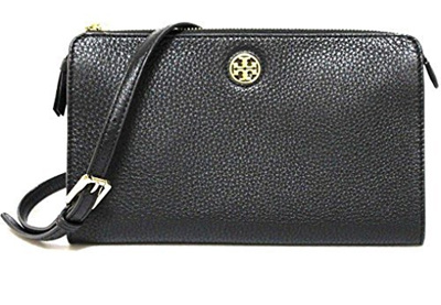0f9181b6d724 Qoo10 - TORY BURCH BRODY PEBBLED LEATHER WALLET CROSSBODY WOMENS BAG ...