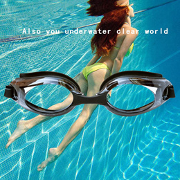 Swimming Goggles /2018New Unisex Adult Silicone swimming goggles With Myopia Degree goggles waterpro