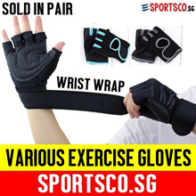 ⏰⚡Premium Exercise Gloves ☘ Weight Lifting ☘ Gym ☘ Cycling ☘ Gloves with Wrist Wrap ☘ SG Seller ☘