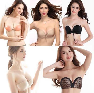f9dadfbe4ae13 3D Invisible Adhesive Nubra  Bridal Wedding Nude Bra Strapless push up Bra  Nipple