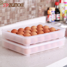 Refrigerator egg box egg preservation transparent storage box household egg anti-throw ingenal to 24