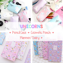 💖 UNICORN 🌈  WaterProof PU Cosmetic Pouch/ Pencil Case💖 Goodie Bag/ Gifts/ School/ Birthday 💖