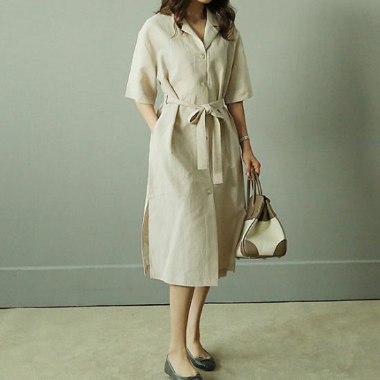 ビナインベセルラワンピース 綿ワンピース/ 韓国ファッション