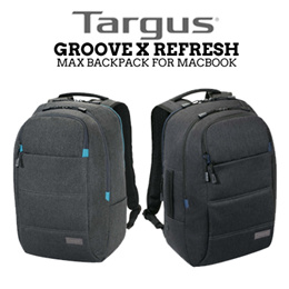 TARGUS Groove X Refresh Max Backpack / 15in / Water Resistant Base /