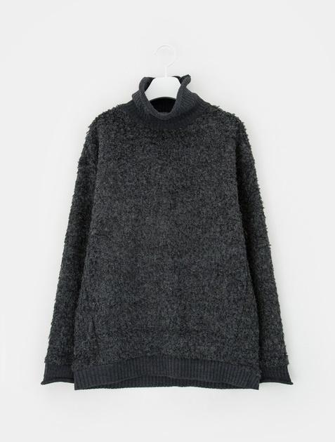 8SECONDS Dumble Contrast Turtleneck Sweatshirt - Ash