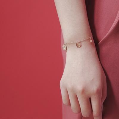 Custom Norwegian no forest /tender dream 14K Gold Star Element Bracelet