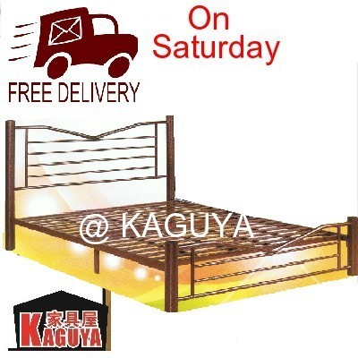 kaguya wrought iron metal king size bed frame foldable unique design 75cm diameter91 unique