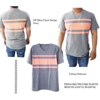 GPMen Chest Stripe Grey