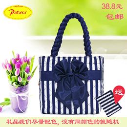 c2ddfa3be138 Bangkok, Pataya authentic handbag bag new package printing easy female cloth  bow handbag cloth bags