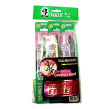 DARLIE Toothbrush Charcoal Clean Compact Head Buy 2 Free 1