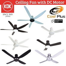 KDK DC Motor Ceiling Fan W56WV / U48FP / U60FW / T60AW  *FREE INSTALLATION OR $40 CHOICE VOUCHERS