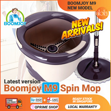 [▼GSS SALE]BOOMJOY M9 Pro 2018 New Magic Spin Flat Mop 360 and Bucket Set 💥