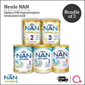 [NESTLÉ NAN] Optipro/HA/Kid hypoallergenic formulated milk【BUNDLE OF 3 TINS!】