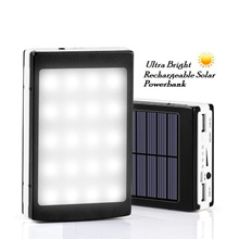 [ New Arrivals] Ultra Bright Rechargeable 20000mAh Solar Powerbank- With 20 LED Light