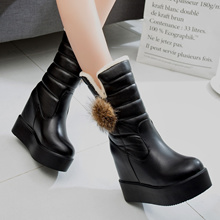 2017 winter boots women winter shoes winter wear leisure soft lamb wool anti level with snow boots